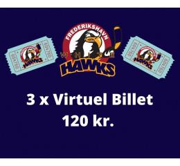 3 x Virtuel Billet